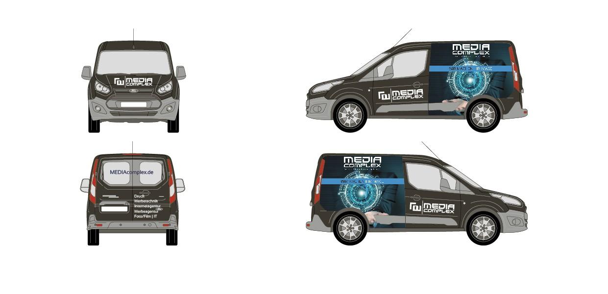 Teilfolierung VW-Caddy oder Ford Custom