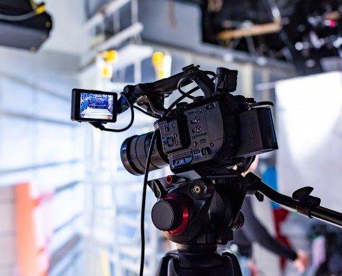 Filmproduktin im Studio