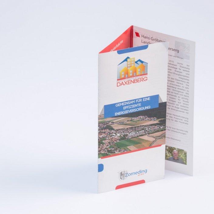 Druc und Design Flyer mit Wickelfalz